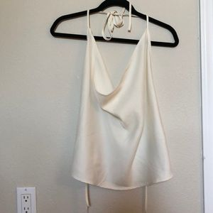 White tie backless top